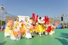 Koreaanse viering voor het festival van de Verlichtingslantaarn Stock Afbeelding