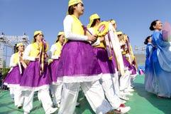 Koreaanse viering voor het festival van de Verlichtingslantaarn Royalty-vrije Stock Foto