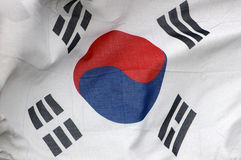 Koreaanse vlag royalty-vrije stock foto