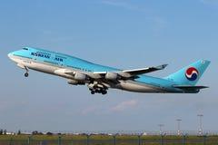 Korean Air Боинг 747-4B5 Стоковое Изображение RF