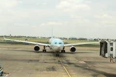 Korean Air на международном аэропорте Nhat сына Tan, HCM, Вьетнаме Стоковое фото RF