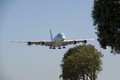 A380 Korean Air на LAX Стоковые Фото