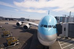 Korean Air A380 Imagem de Stock Royalty Free