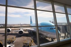 Korean Air A380 Images stock