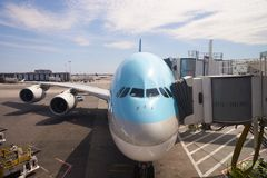 Korean Air A380 Fotografia de Stock