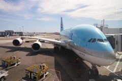 Korean Air A380 Foto de Stock