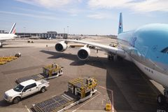 Korean Air A380 Images libres de droits