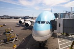Korean Air A380 Photos libres de droits