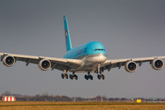 A380 Korean Air Fotografia de Stock