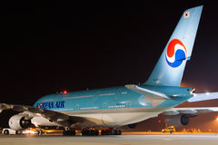 A380 Korean Air Fotografia Stock