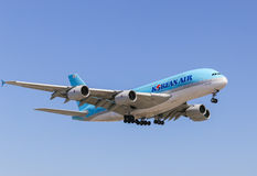 Korean Air A380 Stockfoto
