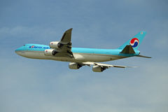 Korean Air ładunek Boeing 747 Obrazy Stock