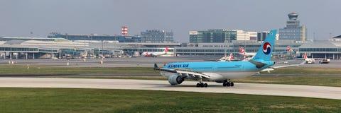 Korean Air Aerobus A330-223 Obraz Stock