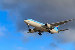 Korean Air airplane royalty free stock image
