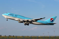 Korean Air Boeing 747-4B5 Image libre de droits