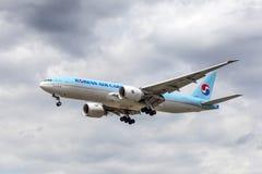 Korean Air Boeing 777F Royalty Free Stock Image
