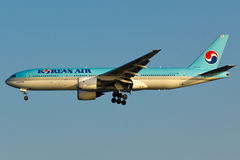 Korean Air Boeing 777 Plane stock photo