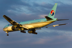 Korean Air Boeing 777 Plane royalty free stock image