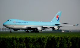Korean Air Cargo 747 Royalty Free Stock Photo