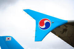 Korean Air detalha Foto de Stock Royalty Free
