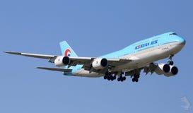 Korean Air in flight Stock Image