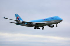 Korean Air last Boeing 747 Royaltyfri Foto