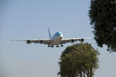 A380 Korean air at LAX Stock Photos
