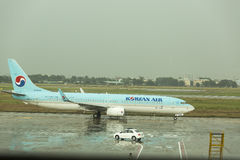 Korean Air. Lines operating as , is the largest airline and flag carrier of South Korea based on fleet size, international destinations and international Stock Photo
