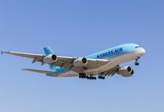 Korean Air A380 Stock Photo
