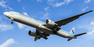 Korean Air Passenger Aircraft. Boeing 777-300 Stock Photo