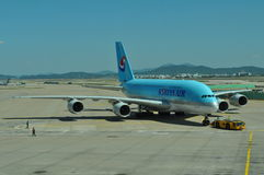 Korean Airlines A380 Royalty Free Stock Images