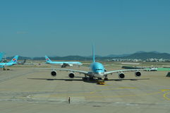 Korean Airlines A380 Stock Photo