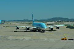 Korean Airlines A380 Stock Images