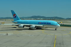 Korean Airlines A380 Royalty Free Stock Photo