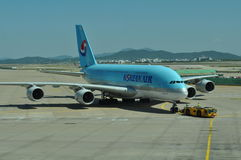 Korean Airlines A380 Royalty Free Stock Photos