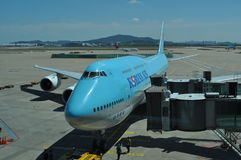 Korean Airlines Boeing 747 Royalty Free Stock Photos