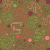 Korean alphabet pattern Stock Photography