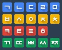 Korean alphabet set Royalty Free Stock Photo