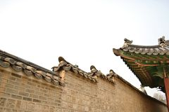 Korean ancient building. On historical period Royalty Free Stock Photography