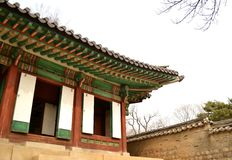 Korean ancient building. On historical period Royalty Free Stock Images