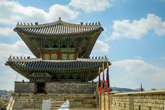 Korean ancient fortress Stock Image
