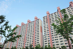 Korean apartment complex Stock Photo