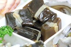 Korean appetizer. (sea weeds)-eating with Raw fish Stock Images