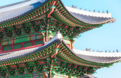 Korean Architecture Royalty Free Stock Photo