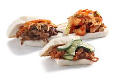 Korean baos. On white background Royalty Free Stock Photos