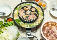 Korean Barbecue in Thai Style royalty free stock image