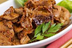 Korean Barbeque Pork in Dinner Bowl Royalty Free Stock Photos