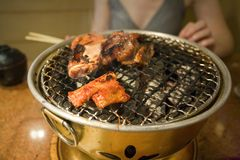 Korean barbeque. Thailand. Royalty Free Stock Image