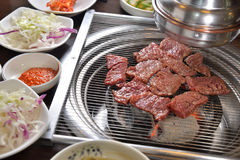 Korean BBQ assort meat. Korean BBQ cuisine assort beef Barbecue grill stock photos