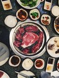Korean bbq. A delicious meal Stock Image